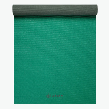 Gaiam Classic Reversible Yoga Mat Green Storm