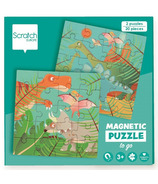 Scratch Magnetic Puzzle Book To Go Dinosaurs