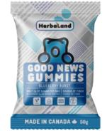 Gommes Herbaland Good News gout Blueberry Burst (en anglais)