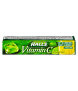 Halls Lozenges Vitamin C Lemon Lime