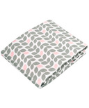 Kushies Flannel Fitted Crib Sheet Petal Grey