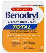 Benadryl Total Allergy Sinus & Pain Medicine Extra Strength 25mg