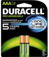 Duracell Staycharged Rechargeable Batteries AAA