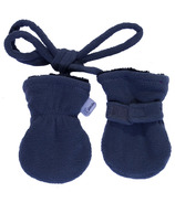 Calikids Baby No Thumb Mitten with String Graphite