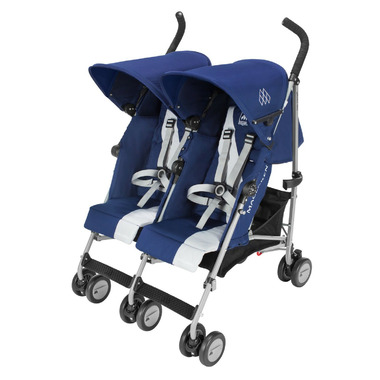 Maclaren Twin Triumph Medieval Blue and Silver