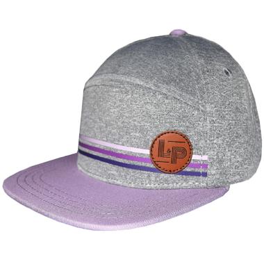 L&P Apparel Portland Snapback Purple & Grey