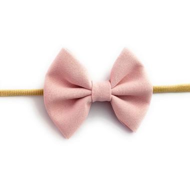 Baby Wisp Headband Fanny Bow Powder Pink