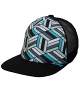 Calikids Trucker Hat Mesh Back Black & Aqua