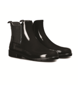 Hunter Boots Refined Chelsea Gloss Rainboot Black
