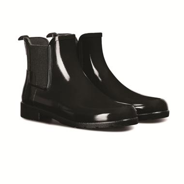 c5600a8b6fe Hunter Boots Refined Chelsea Gloss Rainboot Black