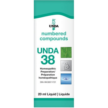 UNDA Numbered Compounds UNDA 38 Homeopathic Preparation