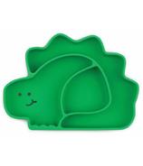 Bumkins Silicone Grip Dish Dino