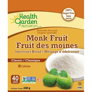 Health Garden Classic Monk Fruit Sweetener Blend Packets