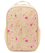 SoYoung Fuchsia and Gold Splatter Grade School Backpack