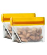 (re)zip Stand-Up Leakproof Reusable Storage Bag Set Orange