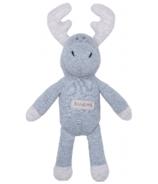 Juddlies Organic Raglan Rattle Denim Blue Moose