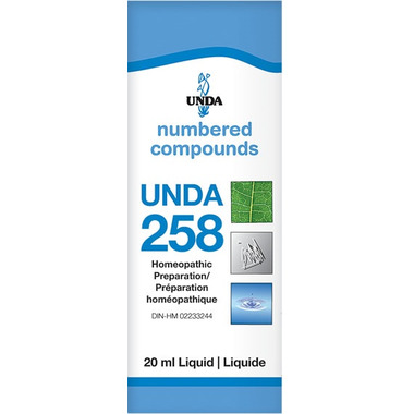 UNDA Numbered Compounds UNDA 258 Homeopathic Preparation