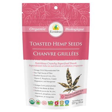 Ecoideas Organic Original Toasted Hemp Seeds