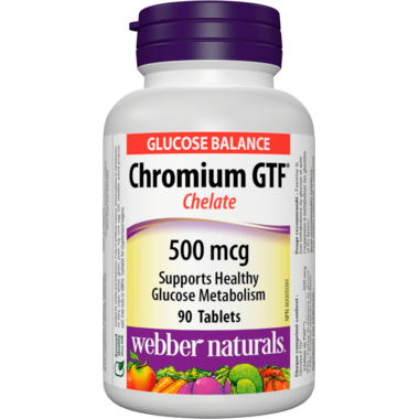 Webber Naturals Chromium GTF (Chelate) 500 mcg