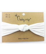 Baby Wisp Headband Turban Knot White 3M+