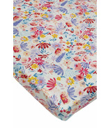 Loulou Lollipop Fitted Crib Sheet Light Field Flowers