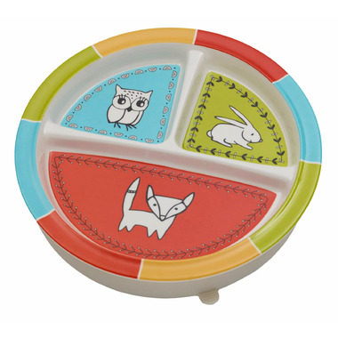 Sugarbooger Divided Suction Plate Meadow Friends