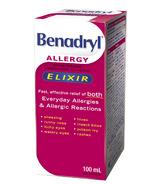 Benadryl Allergy Liquid Elixir