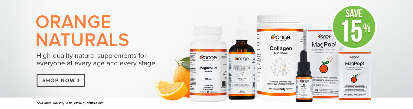 Save 15% on Orange Naturals