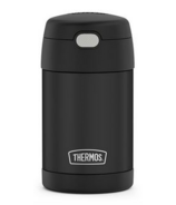 Thermos Stainless Steel FUNtainer Food Jar with Folding Spoon Matte Black