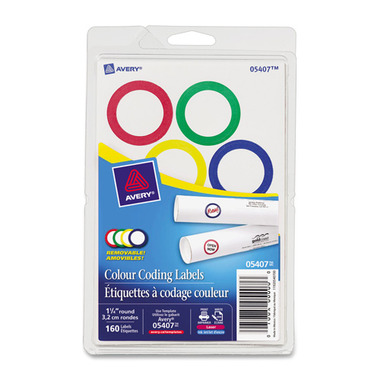 Avery Colour-Ringed Round Labels