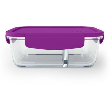 Bentgo Small Glass Container with Leak-Proof Lid Purple