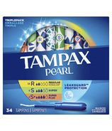 Tampax Pearl Unscented Tampons Triple Pack Heavy