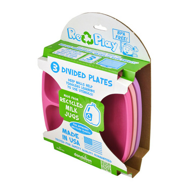 Re-Play Divided Plates Princess Bright Pink, Baby Pink and Purple
