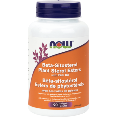 NOW Foods Beta-Sitosterol Plant Sterol Esters with Fish Oil