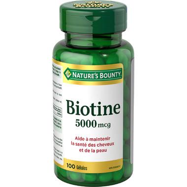 Nature\'s Bounty Biotin 5000mcg