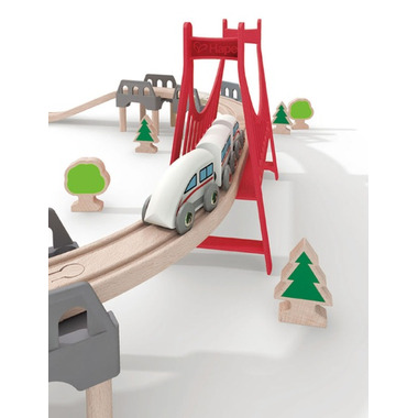 Hape Toys Double Loop Railway Set