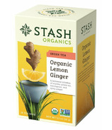 Stash Organic Lemon Ginger Green Tea