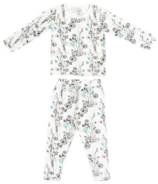 Nest Designs Two-Piece Bamboo Jersey PJ Set Meadow