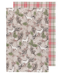 Now Designs Tea Towel Set Nobel Deer