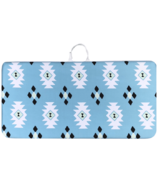 Play with Pieces Bath Kneeler Blue Aztec