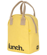 Fluf Zippered Lunch 'Lunch' Yellow