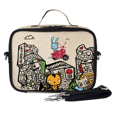 SoYoung x Pixopop Raw Linen Stitch Time Traveller Lunch Box