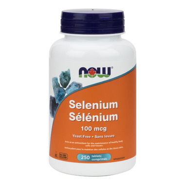 NOW Foods Selenium 100 mcg, Yeast Free