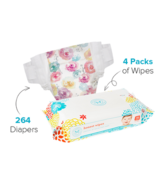 The Honest Company Rose Blossom Print Diapers & Wipes Bundle Size 1