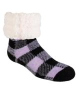 Pudus Lumberjack Slipper Sock Lavender