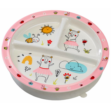 Sugarbooger Divided Suction Plate Clementine the Bear