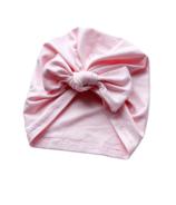 Mini Bretzel Turban Bow Soft Pink