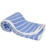 House of Jude Hooded Baby Turkish Towel Blue Moon