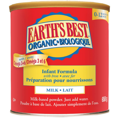 Earth\'s Best Organic Infant Formula with Iron 0-12 months