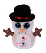 Ty Flippables Melty The Christmas Sequin Snowman Medium